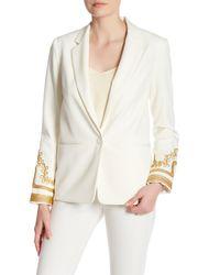 ABS By Allen Schwartz - White Embellished Evening Jacket - Lyst