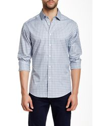Vince Camuto | Blue Printed Long Sleeve Regular Fit Shirt for Men | Lyst