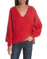 Eleven Six Red Tess Alpaca Blend Sweater