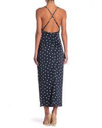 Bardot Blue Spotty Wrap Maxi Dress