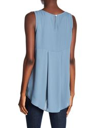 Everleigh Blue Pleated Back Tank Top