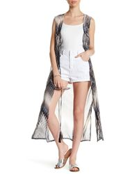 BCBGMAXAZRIA - Gray Sleeveless Print Vest - Lyst