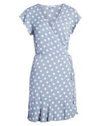 Rails Blue Leanne Ruffle Wrap Dress