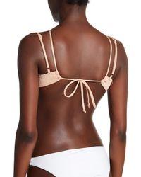 For Love & Lemons - Brown Triangle Halter Bikini Top - Lyst