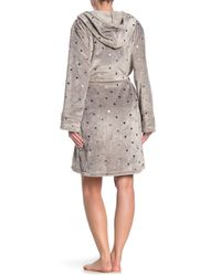 Pj Salvage Gray Foil Hearts Belted Robe