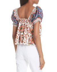 Joie - Multicolor Cleona Cotton Top - Lyst