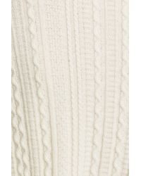 Theory - White Friselle Plumose Wool-Blend Mock Neck Sweater - Lyst