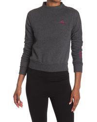 Adidas Gray Comfort Fleece Back Zip Sweatshirt