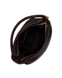 Cole Haan - Black Benson Ii Woven Leather Bucket Hobo - Lyst