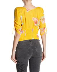 Free People Metallic Love To Love Floral Blouse