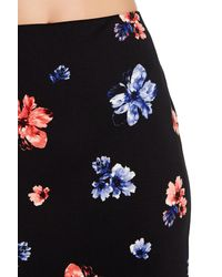 Vince Camuto Black Printed Midi Skirt