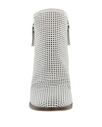 MIA - White Riya Perforated Bootie - Lyst