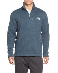 The North Face - Blue Gordon Lyons Quarter-zip Fleece Jacket for Men - Lyst