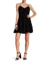 Laundry by Shelli Segal - Black 3d Rosette Dress - Lyst