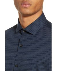 Calibrate Blue Print Sport Shirt for men