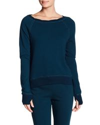 Pam & Gela - Blue Annie Hi-lo Sweatshirt - Lyst