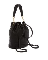 Elizabeth and James - Black Cynnie Leather Sling Backpack - Lyst