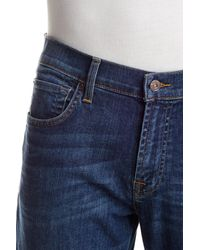 7 For All Mankind - Blue Carsen Easy Straight Leg Jean - Lyst