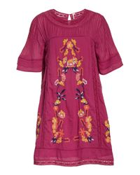 Free People - Purple 'perfectly Victorian' Minidress - Lyst
