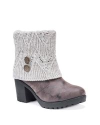 Muk Luks - Multicolor Christa Faux Fur Lined Foldover Knit Cuff Boot - Lyst
