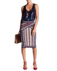 BCBGMAXAZRIA | Multicolor Neon Triangles Pencil Skirt | Lyst