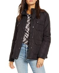 Thread & Supply Blue Fleece Lined Quilted Utility Jacket