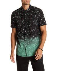 Volcom Black Dirty Noise Polka Dot Woven Modern Fit Shirt for men