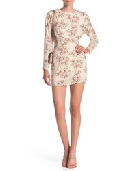 Dress Forum White Floral Print Mini Dress