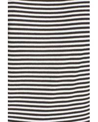 n:PHILANTHROPY Black Dorado Stripe One-shoulder Tee