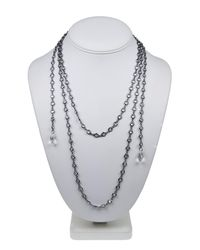 Kenneth Jay Lane | Metallic Cz By The Yard Lariat Necklace | Lyst