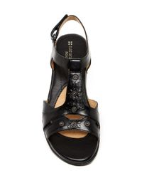 Naturalizer Black Christa Wedge Sandal - Wide Width Available
