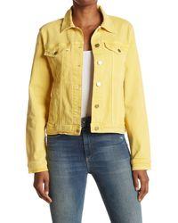 FRAME Yellow Le Vintage Solid Denim Jacket