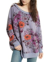 Urban Outfitters - Gray Go On Floral Pullover - Lyst