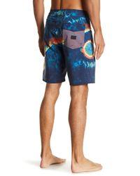 Volcom Blue Yin Yang Slinger Board Shorts for men