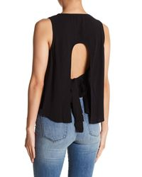 Fate - Black Open Back Sleeveless Top - Lyst