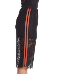 Do+Be Collection - Black Lace Stripe Pencil Skirt - Lyst