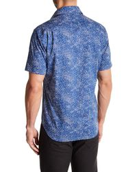 Peter Millar - Blue Ocean Traffic Printed Short-sleeve Sport Shirt for Men - Lyst