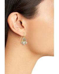 Sandy Hyun - Metallic Scalloped Crystal Earrings - Lyst