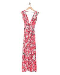 Maaji Pink Dreamland Path Floral Maxi Dress