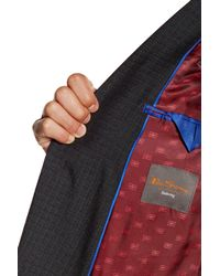 Ben Sherman - Multicolor Ben Plaid Two Button Notch Lapel Suit for Men - Lyst