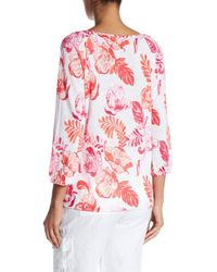 Tommy Bahama - Red Florals Falling Linen Top - Lyst