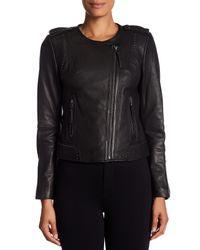 Joie - Black Margolin Studded Genuine Leather Jacket - Lyst