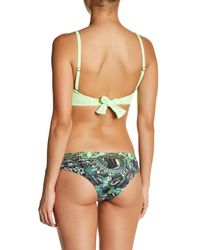 Maaji - Green Forest Folk Reversible Bikini Bottom - Lyst