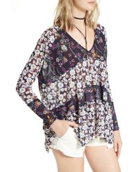 Free People Blue Isabelle Tunic