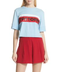 Tretorn - Blue Crop Cotton Tee (nordstrom Exclusive) - Lyst