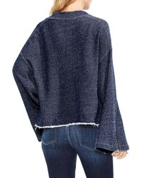 Two By Vince Camuto - Blue Zip Bell Sleeve Top - Lyst