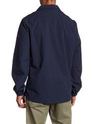 Perry Ellis - Blue Packable Hooded Jacket for Men - Lyst