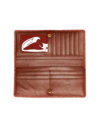 Frye Brown Campus Rivet Slim Leather Wallet