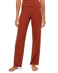 TOPSHOP - Red Ribbed Pajama Pants - Lyst
