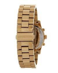 MICHAEL Michael Kors - Metallic Women's Gold-tone Chronograph Watch - Lyst